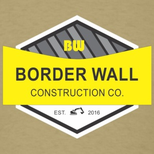 Border Wall Construction - Men's T-Shirt
