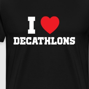 I Heart Decathlons Athlete's T-Shirt T-Shirts - Men's Premium T-Shirt
