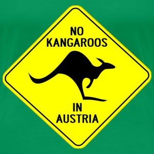 NO KANGAROOS IN AUSTRIA - Women's Premium T-Shirt