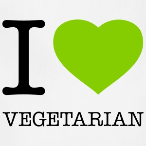 I LOVE VEGETARIAN - Adjustable Apron