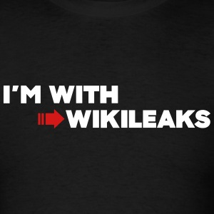 I'm with WikiLeaks T-Shirts - Men's T-Shirt