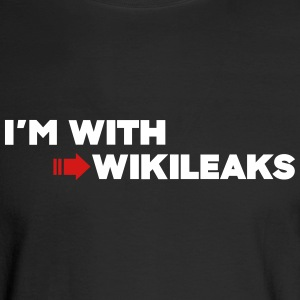 I'm with WikiLeaks Long Sleeve Shirts - Men's Long Sleeve T-Shirt