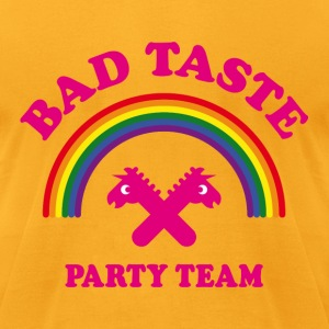 Bad Taste Party Team (Unicorn / Rainbow / Cooper) T-Shirts - Men's T-Shirt by American Apparel
