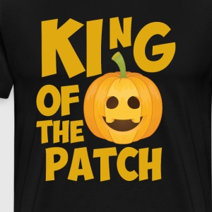 King of the Patch Pumpkin Halloween Graphic TShirt T-Shirts - Men's Premium T-Shirt