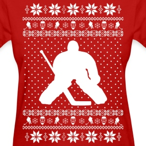 Ugly Hockey Xmas Sweater T-Shirts - Women's T-Shirt