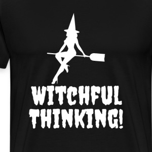 Witchful Thinking Halloween Spooky Funny T-Shirt T-Shirts - Men's Premium T-Shirt