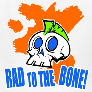 Rad To The Bone Mohawk Skull Shirt - Kids' T-Shirt