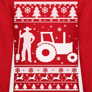 Farmer Christmas Long Sleeve Shirts - Crewneck Sweatshirt