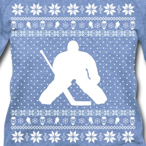 Ugly Hockey Xmas Sweater Long Sleeve Shirts - Women's Wideneck Sweatshirt