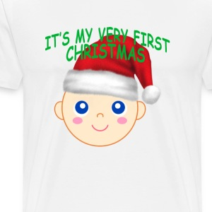 its_my_first_christmas_ - Men's Premium T-Shirt