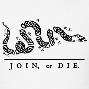 Join or Die Ben Franklin T-Shirt - Men's T-Shirt