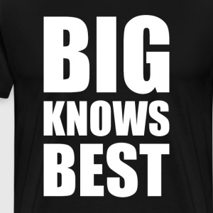 Big Knows Best Brother Sister Twins T-Shirt T-Shirts - Men's Premium T-Shirt