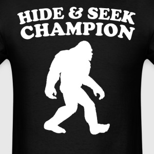 Bigfoot Hide And Seek Champion Funny T-Shirt - Men's T-Shirt