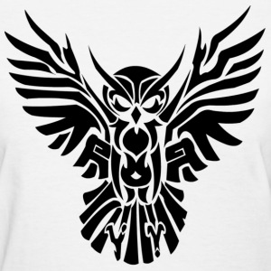 owl tribal - Women's T-Shirt