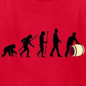 evolution_of_man_harbour_worker_c_3c Kids' Shirts - Kids' T-Shirt