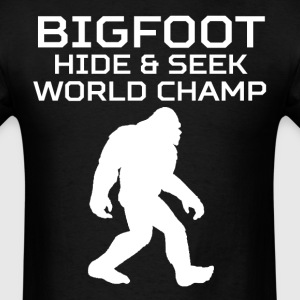 Bigfoot Hide And Seek World Champ Funny T-Shirt - Men's T-Shirt