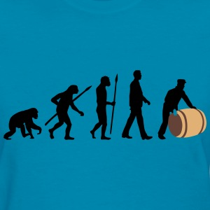evolution_of_man_harbour_worker_c_3c T-Shirts - Women's T-Shirt