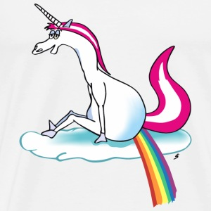 Unicorn pooping rainbow T-Shirts - Men's Premium T-Shirt