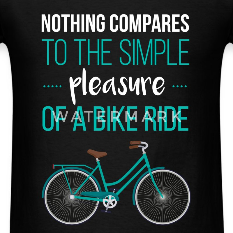 Nothing compares to the simple pleasure of a bike  - Men's T-Shirt