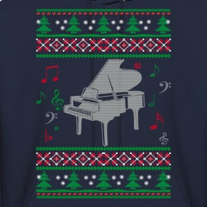 Piano Ugly Christmas - Men's Hoodie