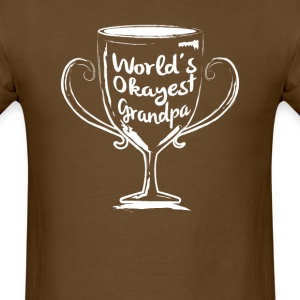 World's Okayest Grandpa - Men's T-Shirt