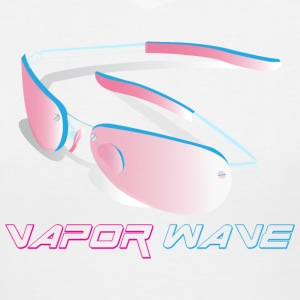 Vaporwave Sunglasses - Women's V-Neck T-Shirt