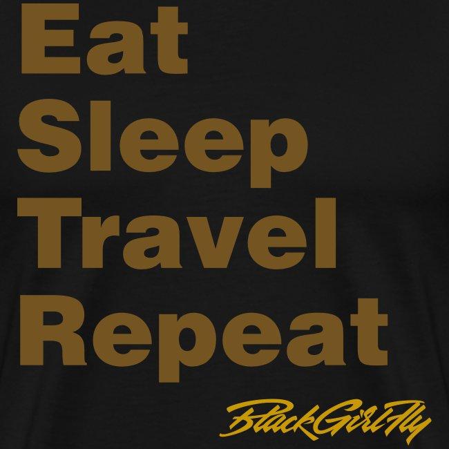 Eat, Sleep, Travel Gold Foil