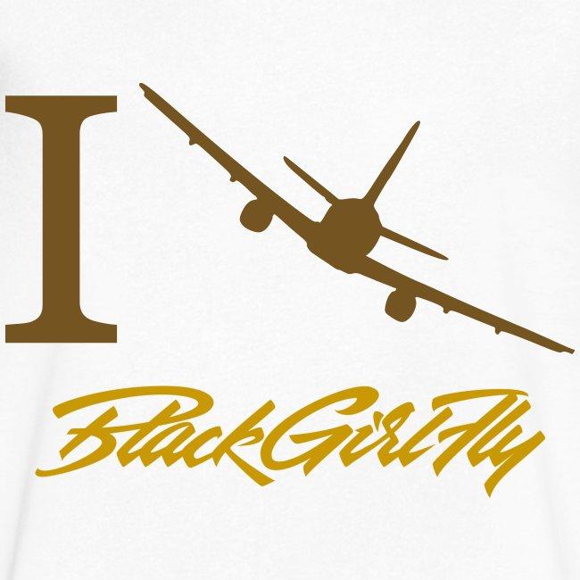 I Love BGF Womens Gold Foil