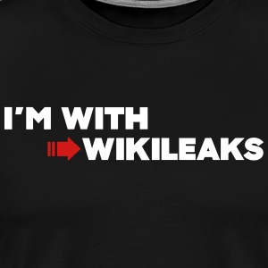I'm with WikiLeaks T-Shirts - Men's Premium T-Shirt