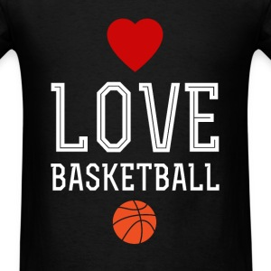 I love basketball - Men's T-Shirt