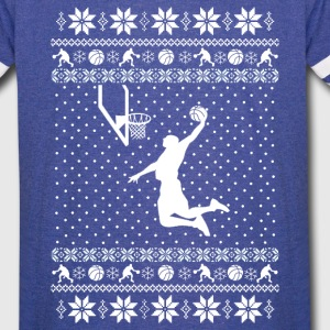 Basketball Xmas Sweater T-Shirts - Vintage Sport T-Shirt