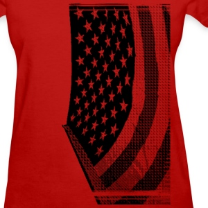 911 flag black america T-Shirts - Women's T-Shirt