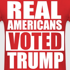 REAL AMERICANS VOTED FOR TRUMP T-Shirts - Men's T-Shirt
