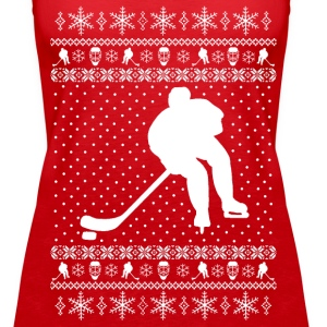 Ugly Hockey Xmas Sweater Tanks - Women's Premium Tank Top