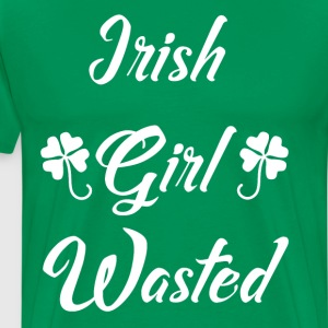 Irish Girl Wasted St. Patrick's Day Drinking Tee T-Shirts - Men's Premium T-Shirt