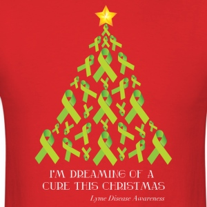 Lyme Free Christmas T-Shirts - Men's T-Shirt