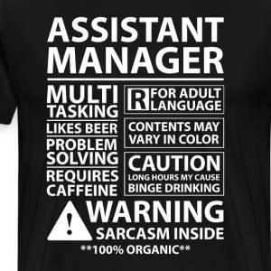Assistant Manager Management Business T-Shirt T-Shirts - Men's Premium T-Shirt
