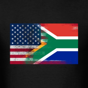 South African American Half South Africa Half Flag - Men's T-Shirt