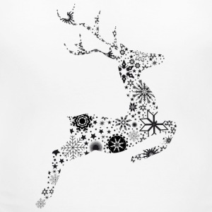 Reindeer ice crystals and snow stars T-Shirts - Women's Maternity T-Shirt