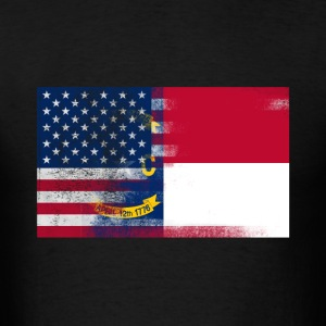 North Carolina American Flag Tee - Men's T-Shirt