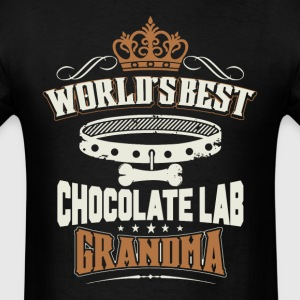 World's Best Chocolate Lab Grandma T-Shirt - Men's T-Shirt