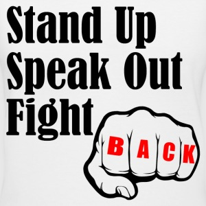STAND UP SPEAK OUT FIGHT T-Shirts - Women's V-Neck T-Shirt