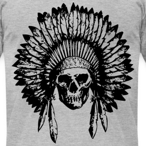 Chief Skull  T-Shirts - Men's T-Shirt by American Apparel