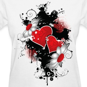 flowers and heart - Women's T-Shirt