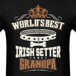 World's Best Irish Setter Grandpa T-Shirt - Men's T-Shirt