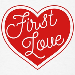 First Love - Heart - Men's T-Shirt