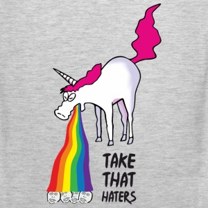 Unicorn puking rainbow - takt that haters Sportswear - Men's Premium Tank