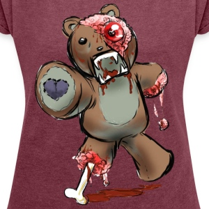 zombie bear - Women´s Rolled Sleeve Boxy T-Shirt