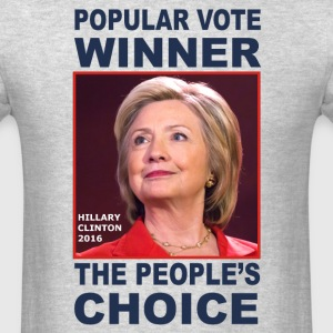 Anti-Trump t-shirt. Hillary won the popular vote. - Men's T-Shirt