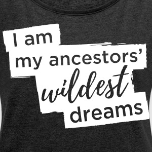 Ancestors' Dream Large Graphic - Women's Roll Cuff T-Shirt